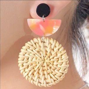 Acrylic Rattan woven earrings!